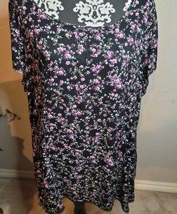 Torrid Floral Skater Dress Sz 1 Fits 1X or 14-16